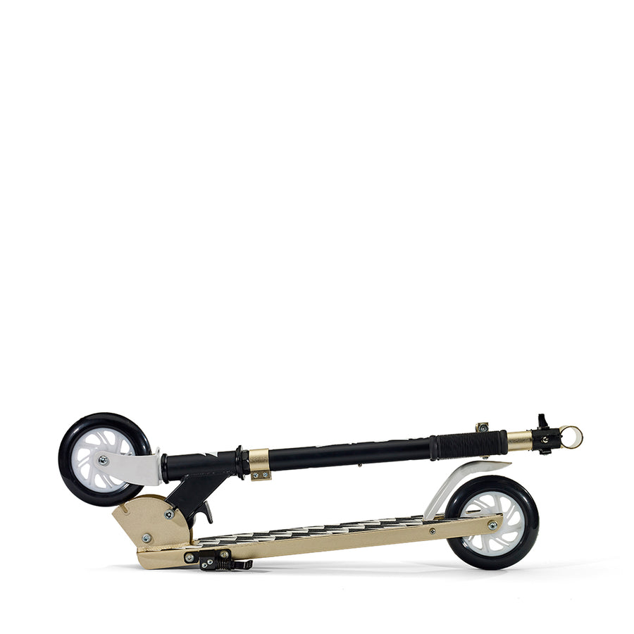 Svolta Gender Neutral Legend Scooter in Black and Gold for Kids at CURRENT LABEL | Current Minimal. Modern. Monochrome Scooters for Kids