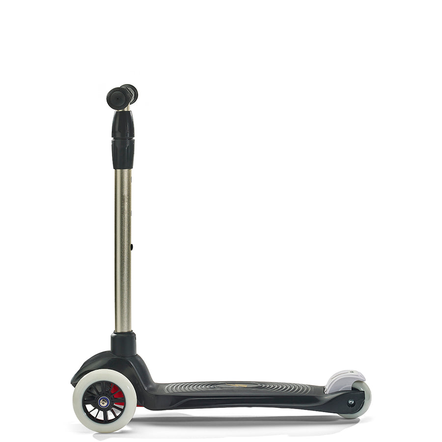 Svolta Gender Neutral Mega 3 Wheel Kick Scooter in Black and Gold for Kids at CURRENT LABEL | Current Minimal. Modern. Monochrome Scooters for Kids