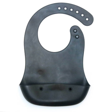 Silicone Foldable Bib in Black