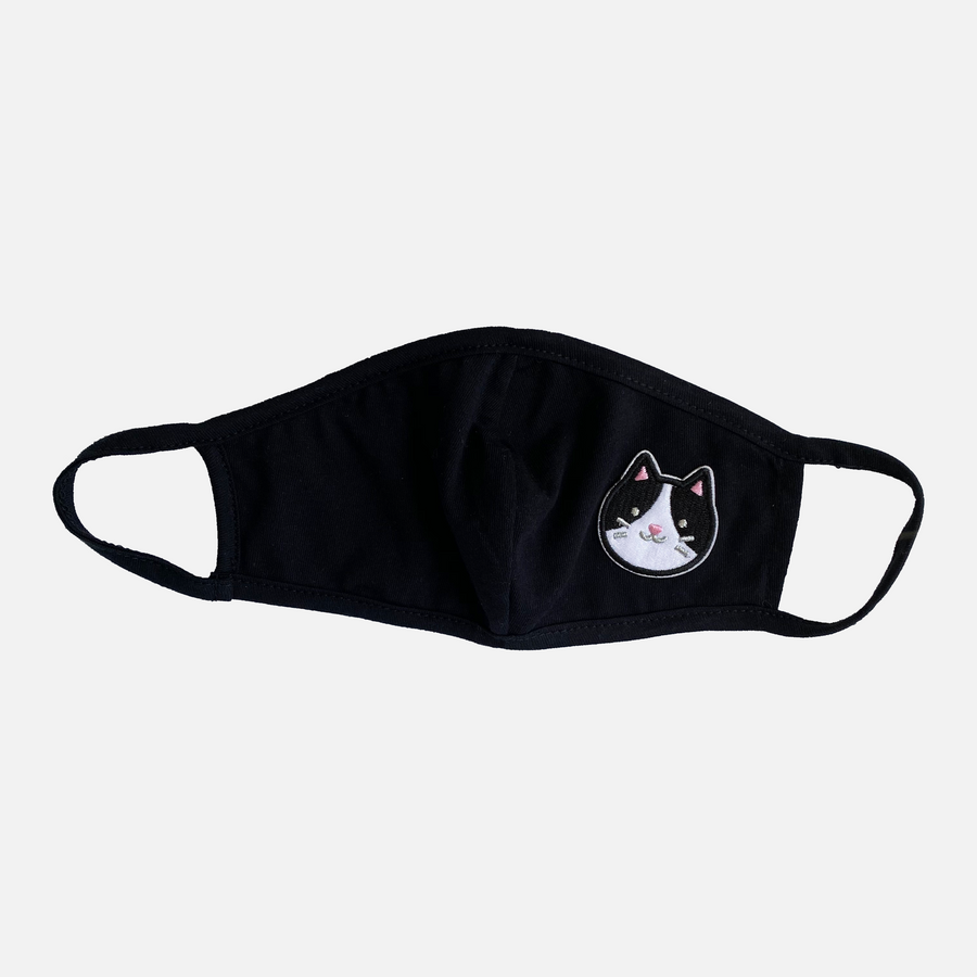 Tux Cat Patch Kids Reusable Face Mask