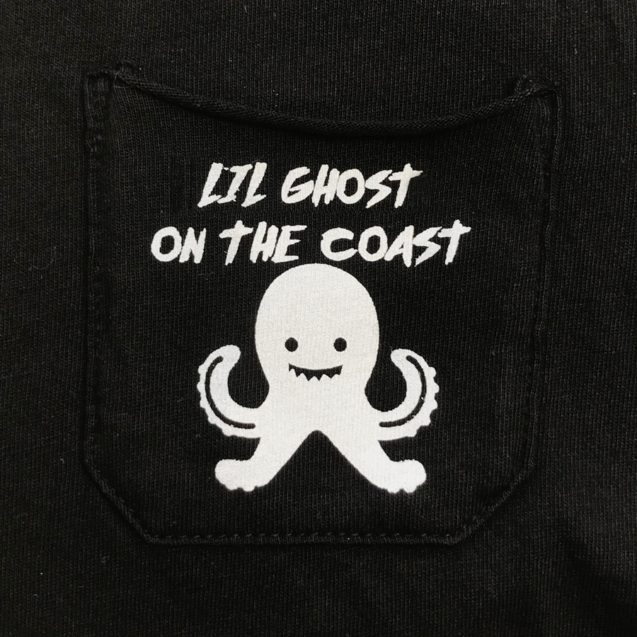 Lil Ghost Tee in Black