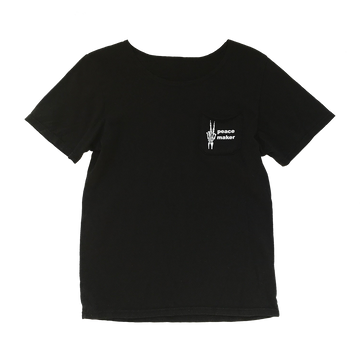 Unisex Peacemaker Short Sleeve Pocket Tee in Black for Toddlers and Kids by CURRENT | CURRENT LABEL