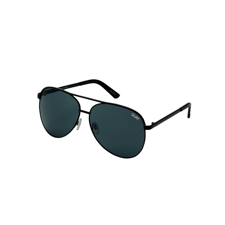 Vivienne Sunglasses for Women in Black with Smoke by Quay Australia at CURRENT