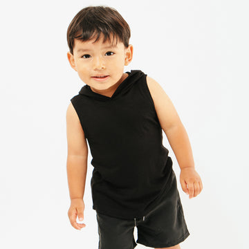 West Unisex Baby Hooded Beach Coverup in Black by CURRENT | CURRENT LABEL | CURRENT Swim & Beachwear