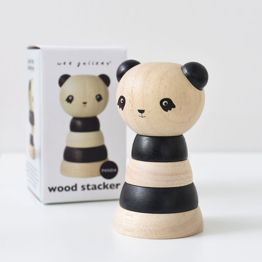 Wooden Stacking Panda Toy for Babies and Toddlers by Wee Gallery | Current Label
