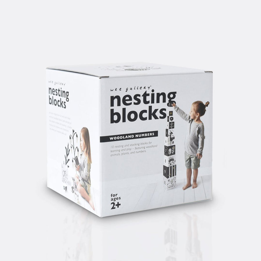 Woodland Number Nesting Blocks for Toddlers and Kids by Wee Gallery | Current Label