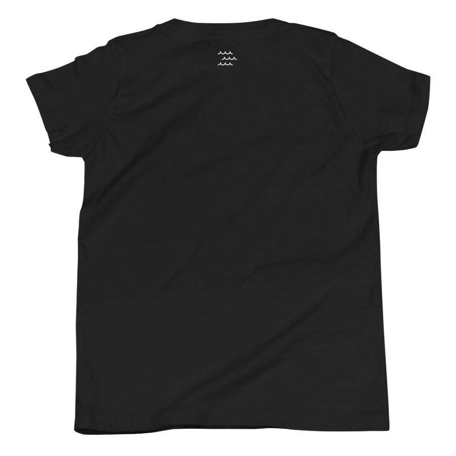Paradise Short Sleeve Unisex Kids Tee in Black by CURRENT | CURRENT LABEL