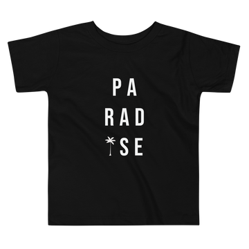 Paradise Short Sleeve Unisex Toddler Tee in Black by CURRENT | CURRENT LABEL