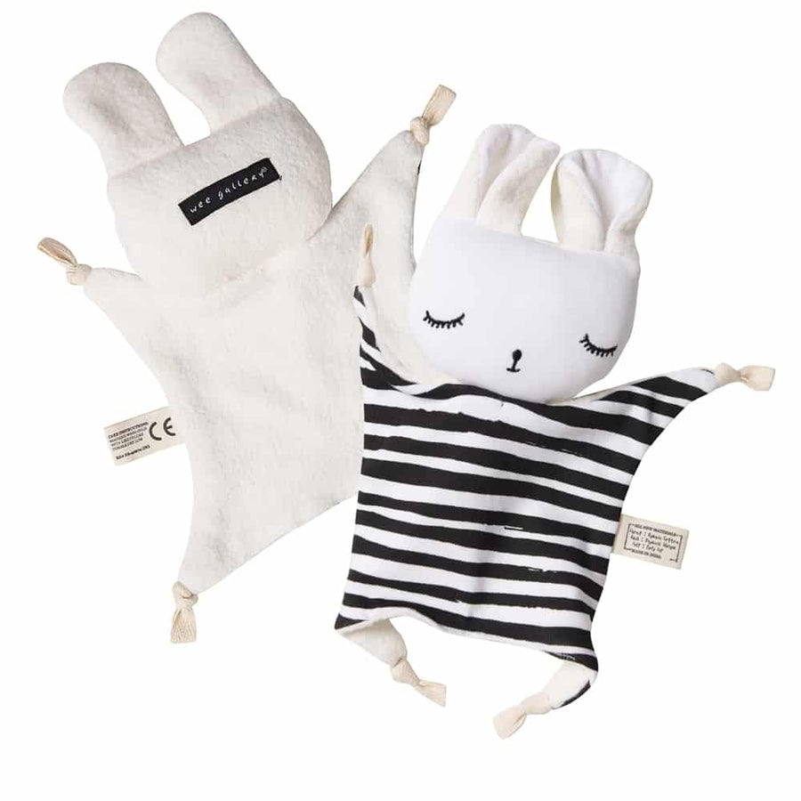 Organic Cuddle Bunny - Splatter by Wee Gallery at CURRENT LABEL | Monochrome Gifts