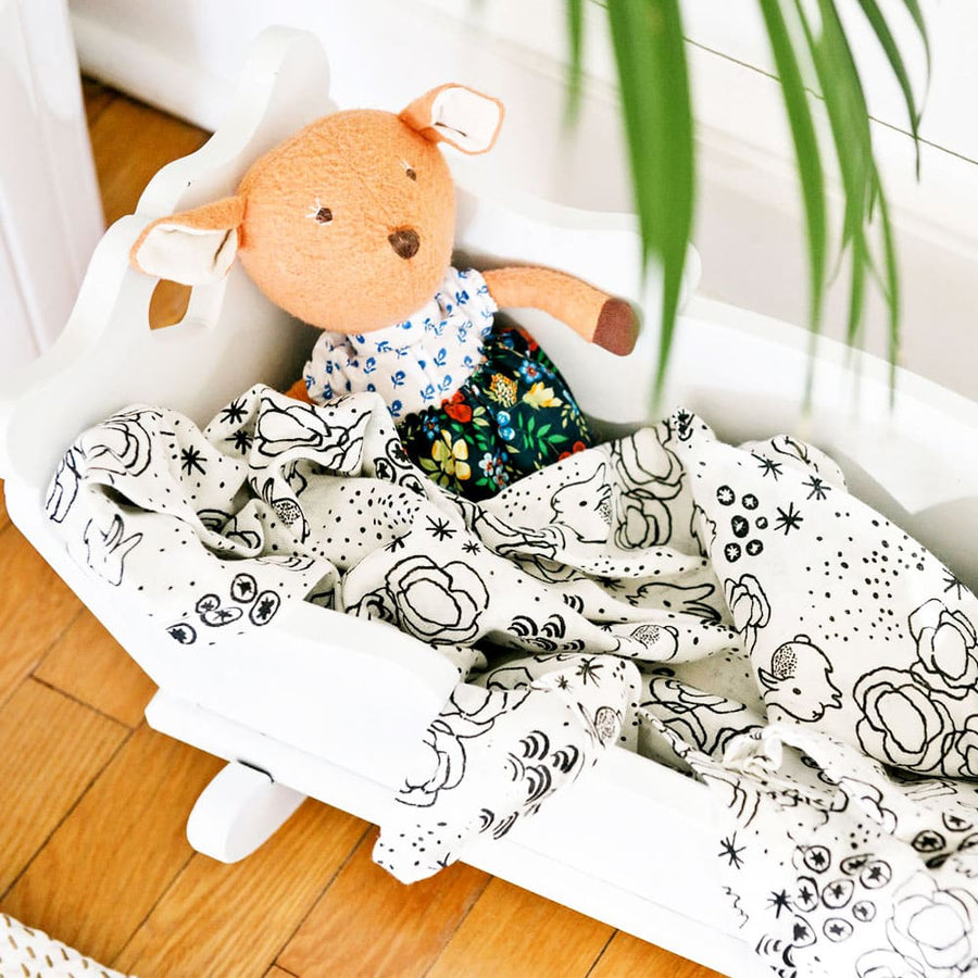 Organic Bunny Muslin Swaddle Blanket by Wee Gallery | CURRENT LABEL