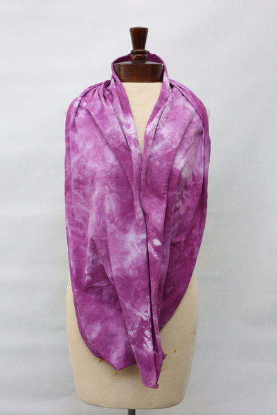 Hand dyed cotton jersey infinity scarf C5