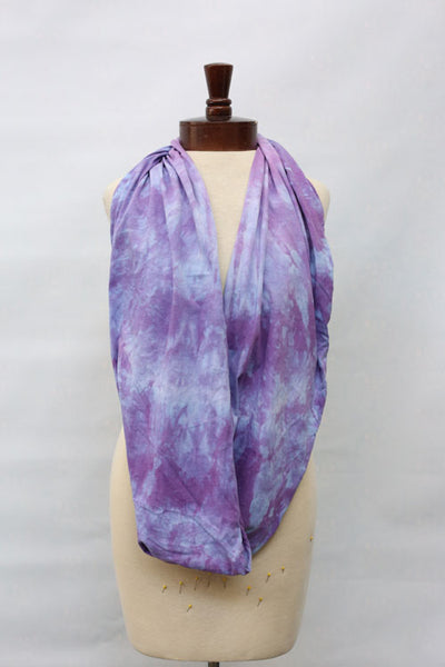Hand dyed cotton jersey infinity scarf C6
