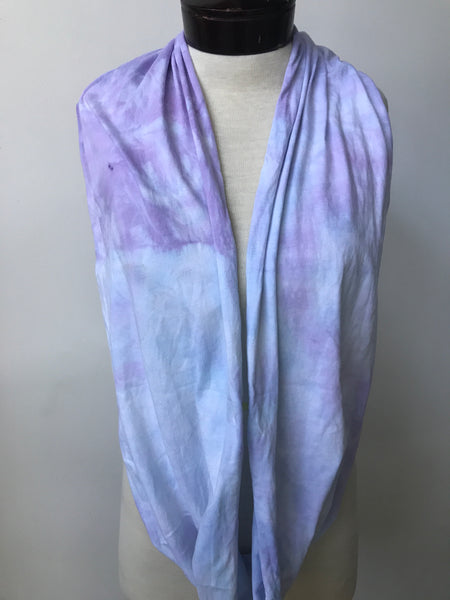 Hand dyed cotton jersey infinity scarf C44