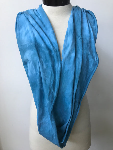 Hand dyed cotton jersey infinity scarf C56