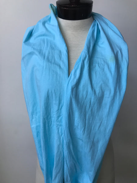 Hand dyed cotton jersey infinity scarf C47