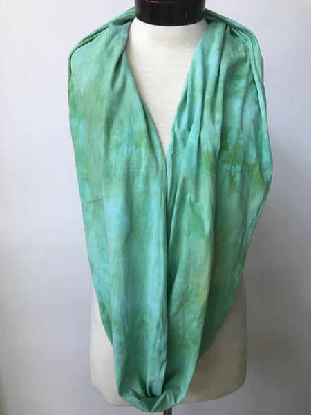 Hand dyed cotton jersey infinity scarf C49
