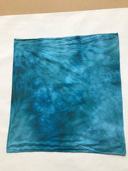 Hand-dyed bandana, Atlantic