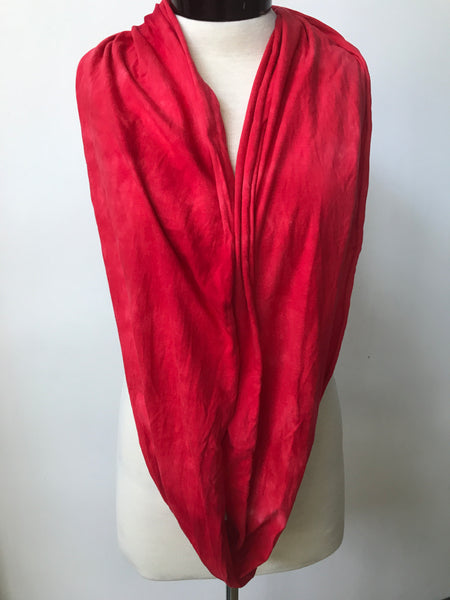 Hand dyed cotton jersey infinity scarf C51