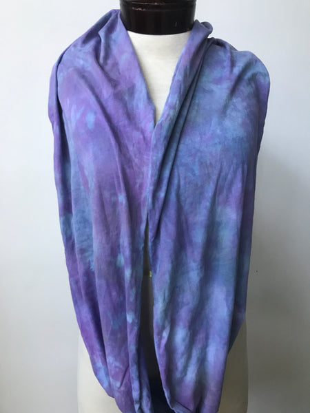 Hand dyed cotton jersey infinity scarf C60