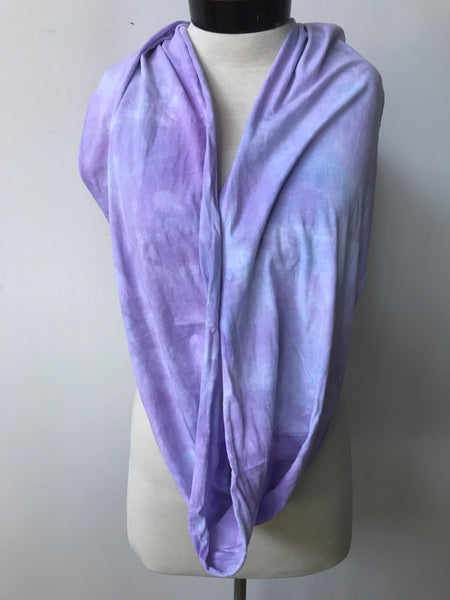 Hand dyed cotton jersey infinity scarf C42