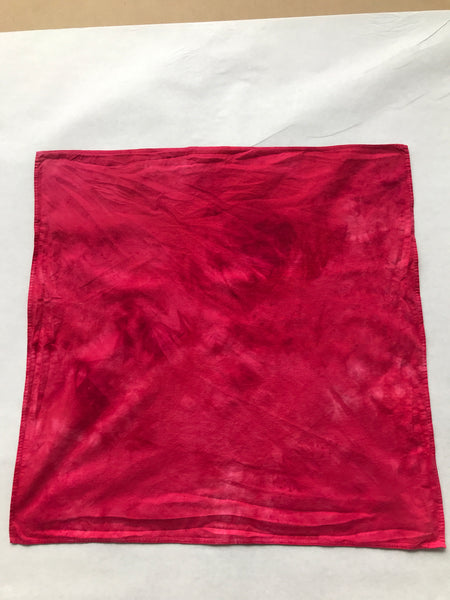 Hand-dyed bandana, Black Cherries