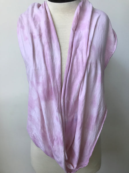 Hand dyed cotton jersey infinity scarf C46