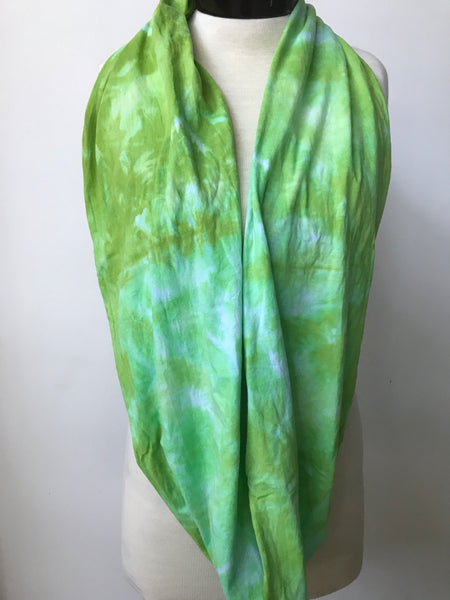 Hand dyed cotton jersey infinity scarf C54