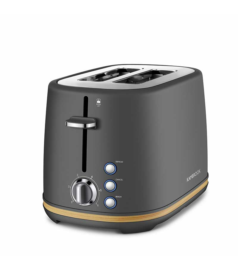 Scandi Chic™ - 2 Slice Toaster (Charcoal)