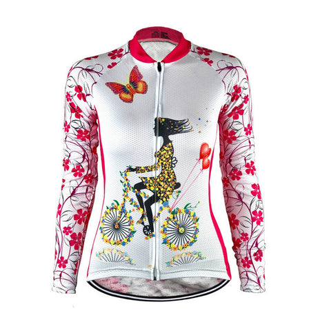 Long Sleeve Biking Ladies Jersey
