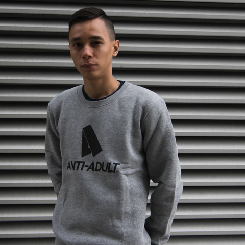 Anti-Adult grey Concept Sweater - Dernier Cri store UK