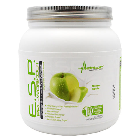 Image of Metabolic Nutrition ESP Pre-Workout - Green Apple