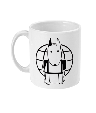 11oz Mug Rocky the Backpacker Rocky the Traveller Logo for tote