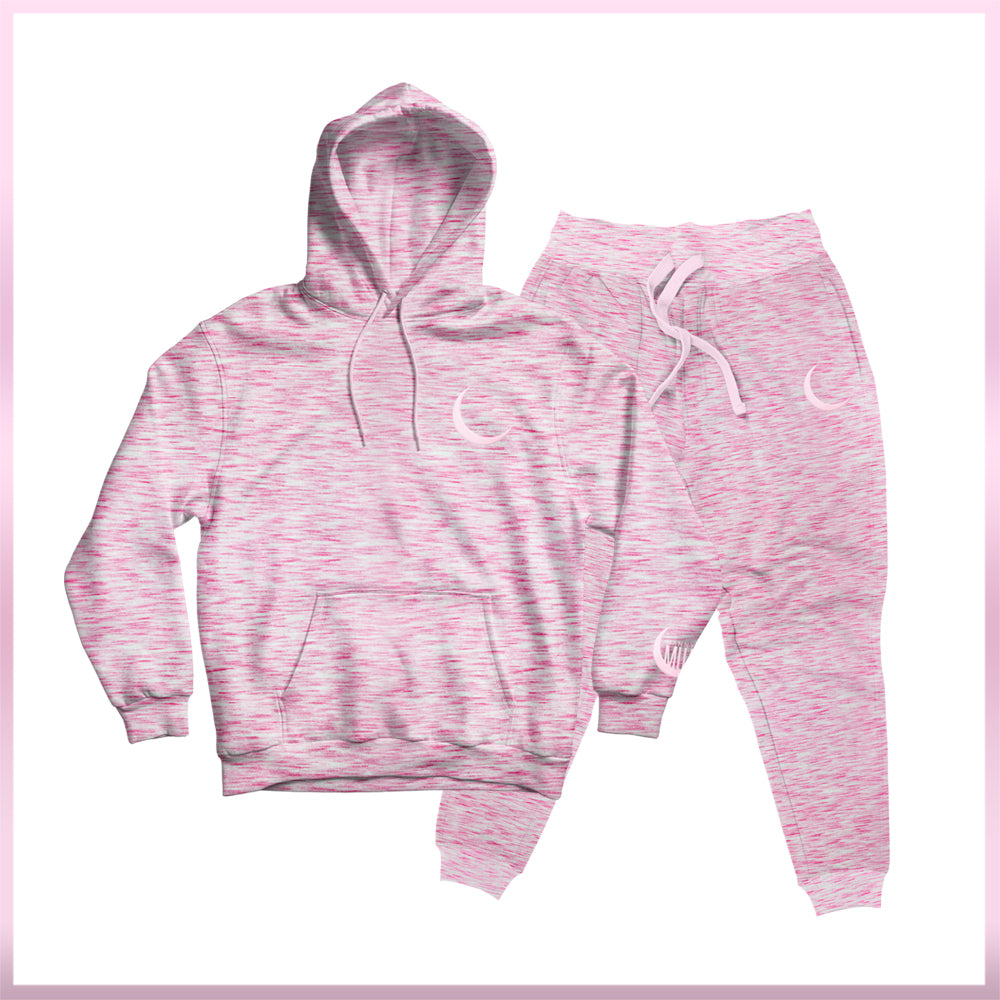 Cozy Heather Pink Lounge Suit