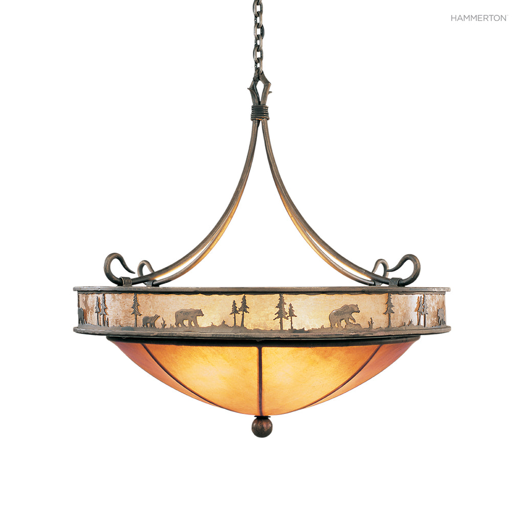 CH6001-L Log and Timber Chandelier