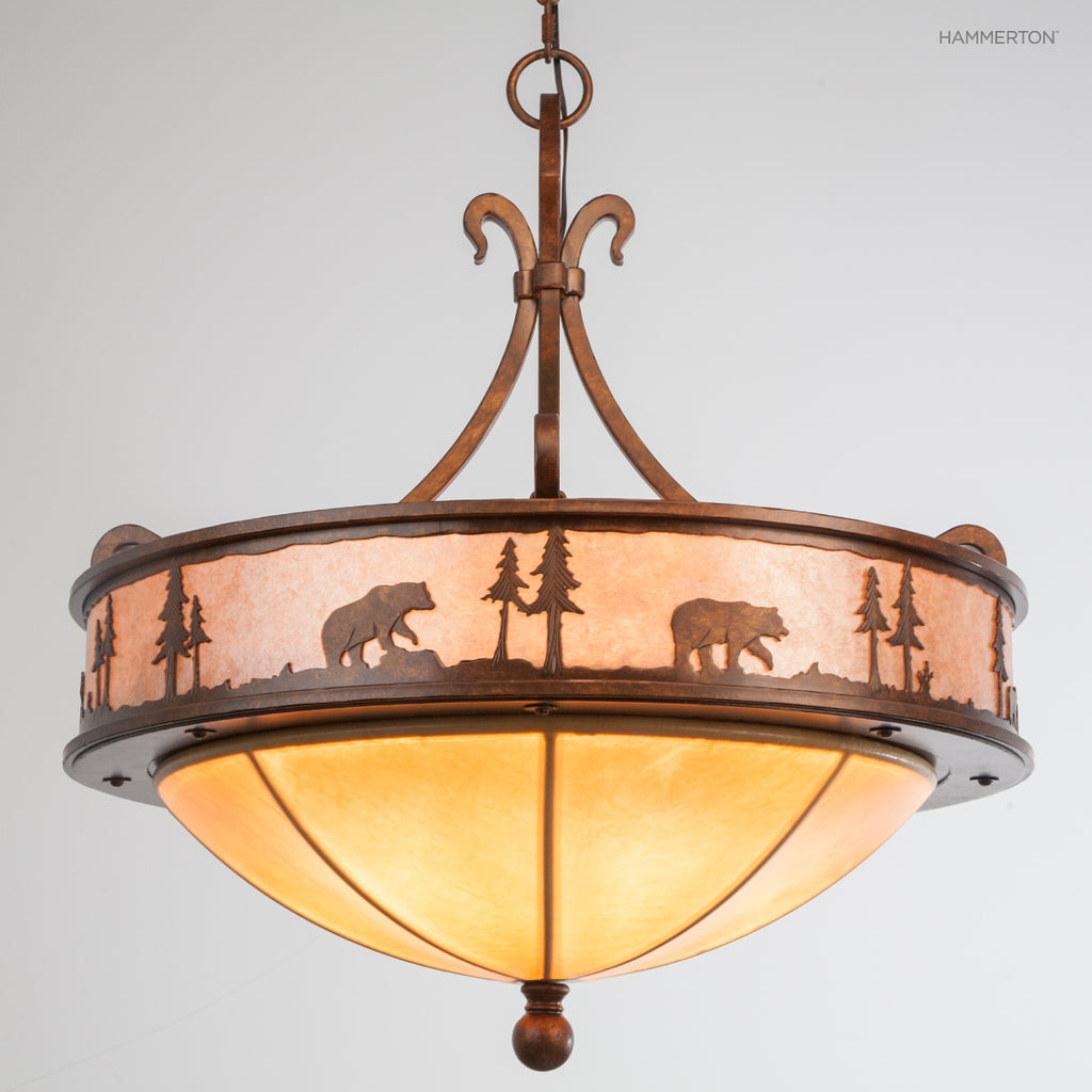 CH6001-M Log and Timber Chandelier