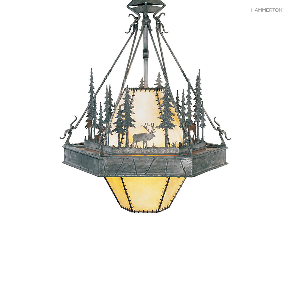 CH6002-M Log and Timber Chandelier
