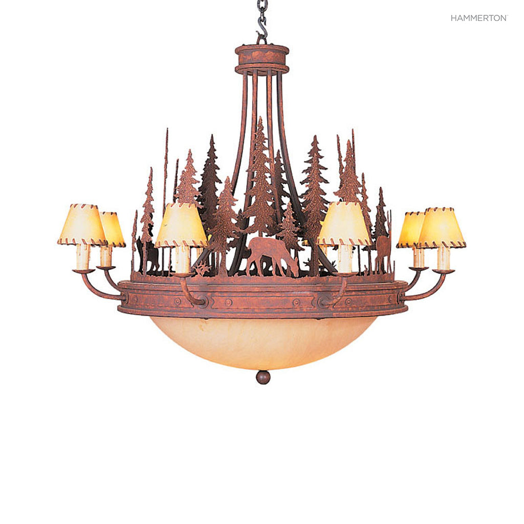 CH6028 Log and Timber Chandelier