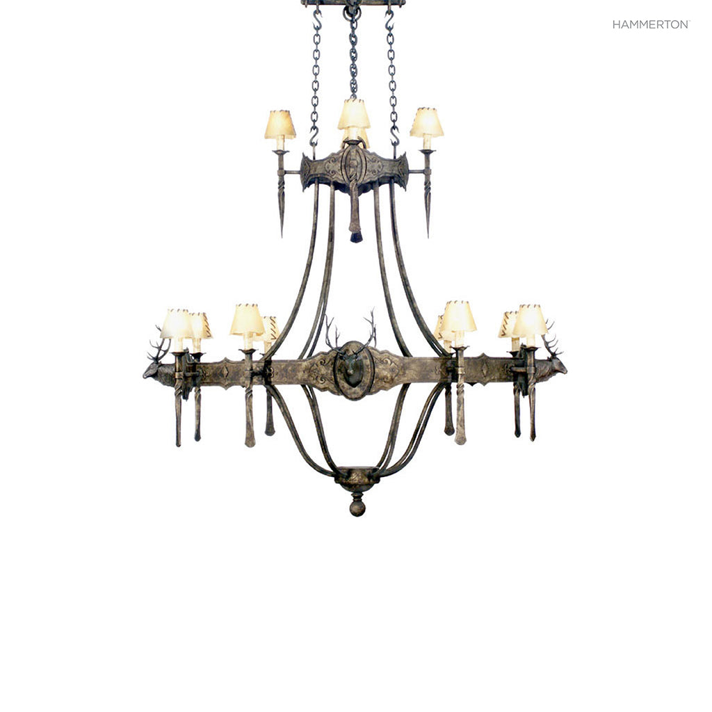 CH6036 Log and Timber Chandelier