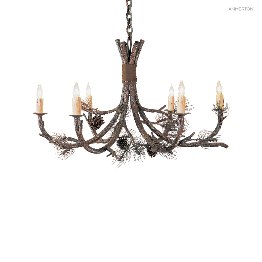 CH7001-M Log and Timber Chandelier