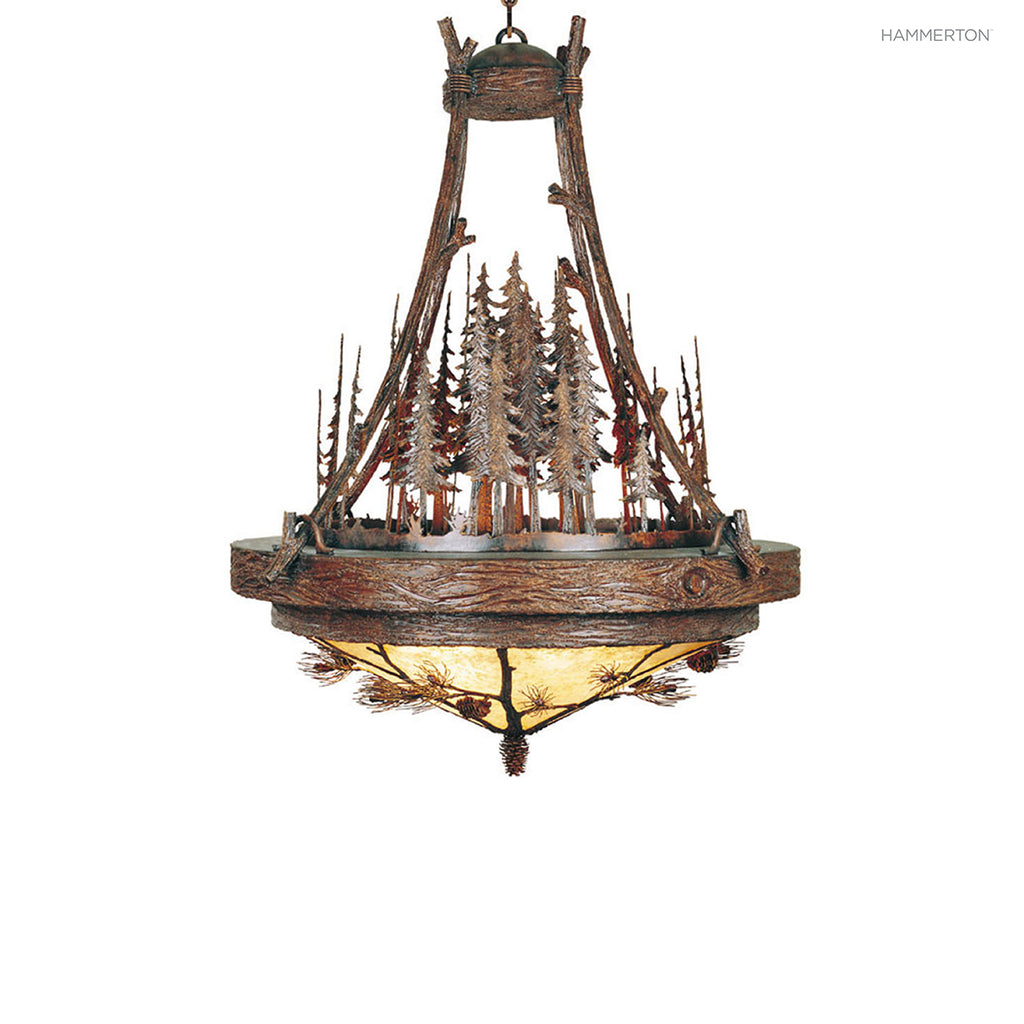 CH7024-M Log and Timber Chandelier