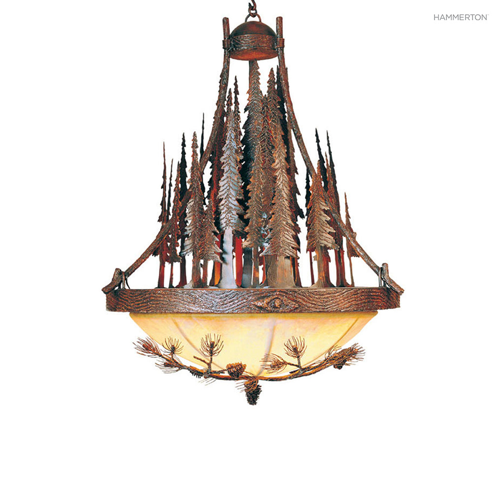 CH7026-L Log and Timber Chandelier