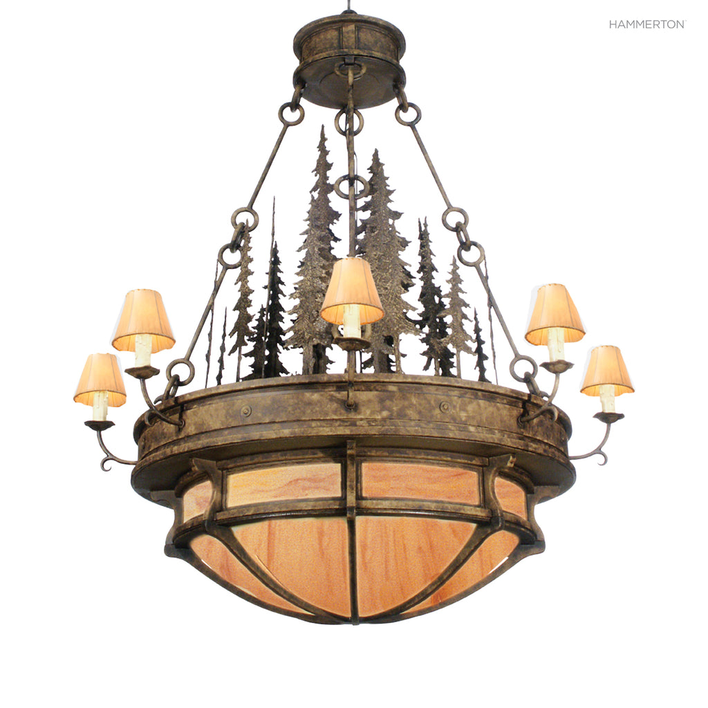 CH7161 Log and Timber Chandelier