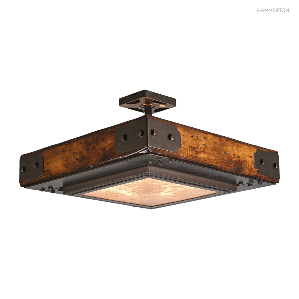 CL8063 Log and Timber Semi-Flush