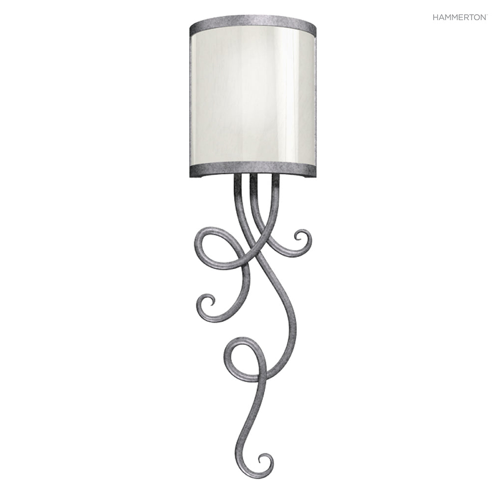 CS1018 An elegant spiral sconce. Available in a wide selection of finishes and  options. American handcrafted to order. Can be customized in size, scale or materials.