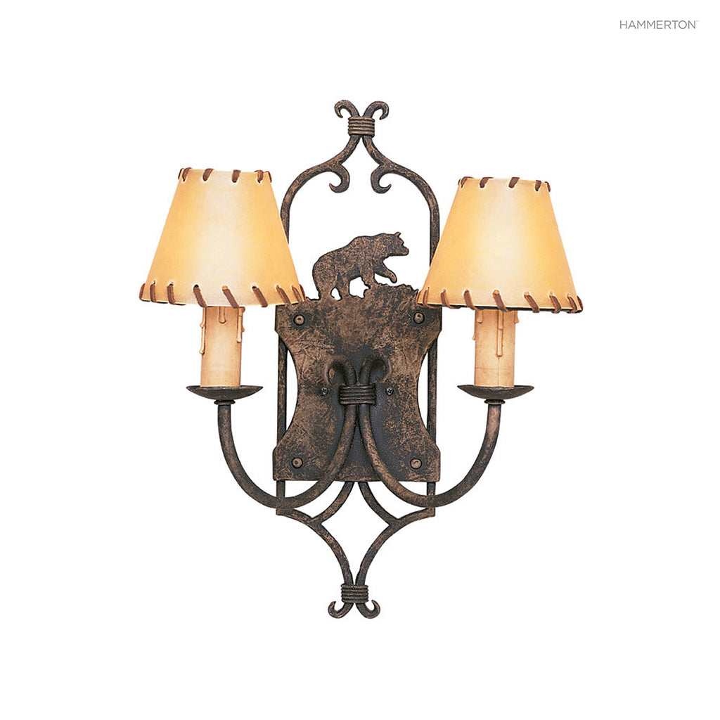 ID6033 Log and Timber Sconce