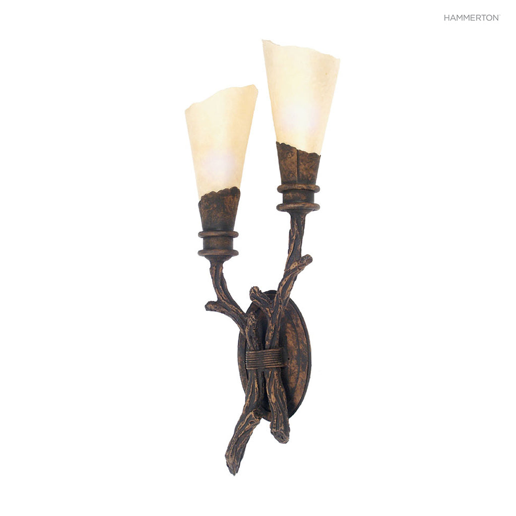 ID7151 Log and Timber Sconce