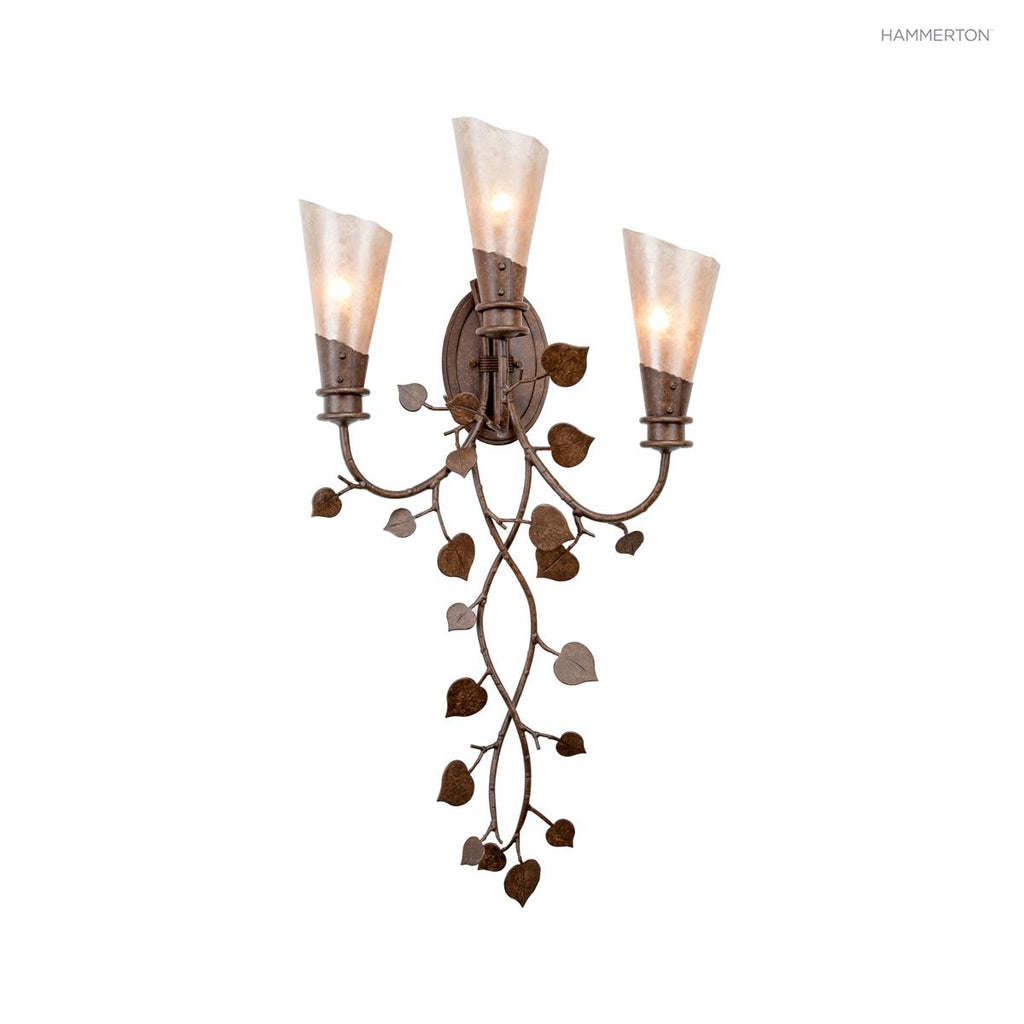 ID7175 Log and Timber Indoor Sconce