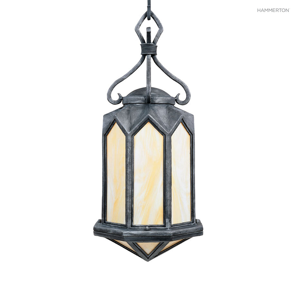 LA9043-M Traditional-style octagonal hanging pendant. Available in 12+ finishes and a wide selection of inner lens materials in glass, mica and acrylic. American handcrafted to order. Can be customized in size, scale or materials.
