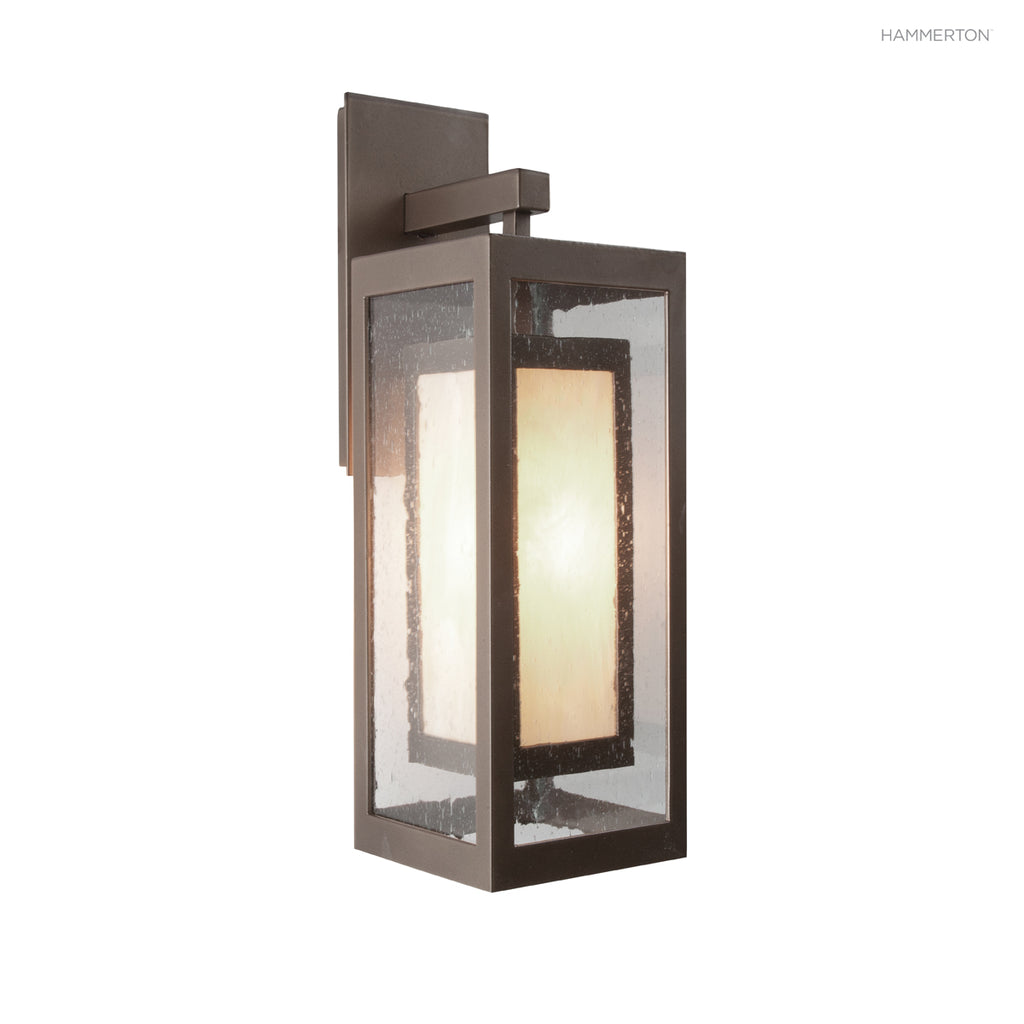 OD2210 Sleek rectangular box-in-box design, with outer diffuser in glass and inner diffuser in glass or mica. Wet rated for outdoor use. Available in several diffuser options and 20+ finishes. American handcrafted to order. Can be customized in size, scal