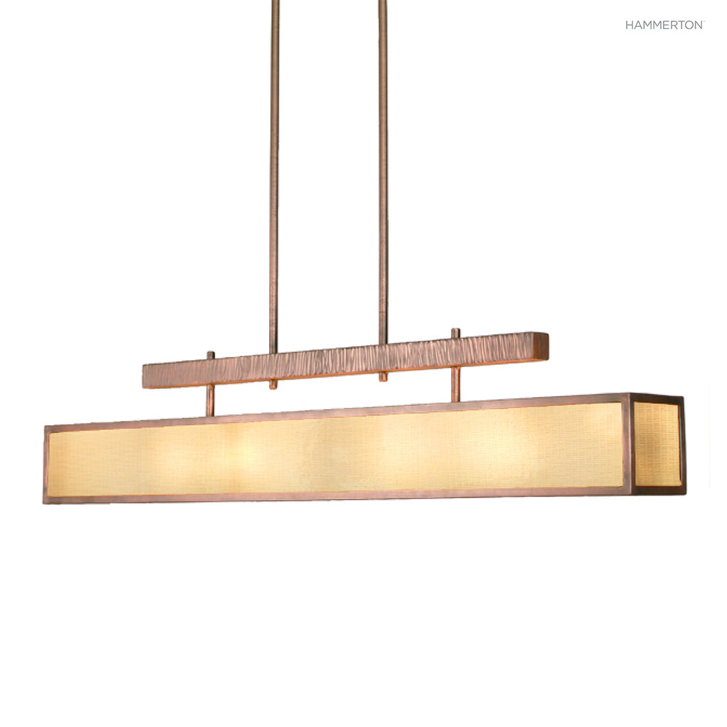 PL2109 Contemporary box-style linear suspension with artisan textured suspension motif. Available in a wide selection of lens and finish options. American handcrafted to order. Can be customized in size, scale or materials.